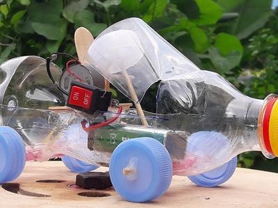 Very simple plastic bottle car DIY for kid