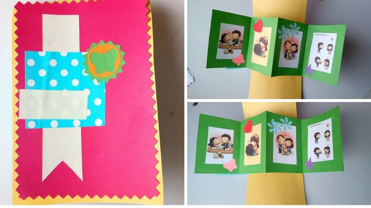 Beautiful & Simple DIY Card For Boyfriend - Love Greeting Card For Him (Tutorial)