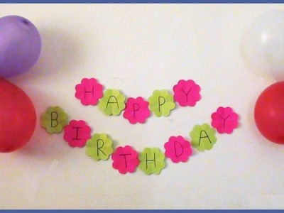 Birthday Party Decoration Ideas | DIY Paper Crafts for Beginners