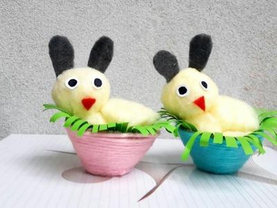 DIY cotton doll in a egg carton basket.DIY doll crafts.best DIY.DIY egg carton craft