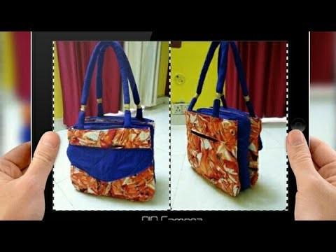 DIY : Designer Handbag With Many Pockets By Anamika Mishra. . .