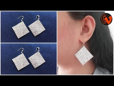 DIY. How to make earrings at home. Tutorial. Best out of waste