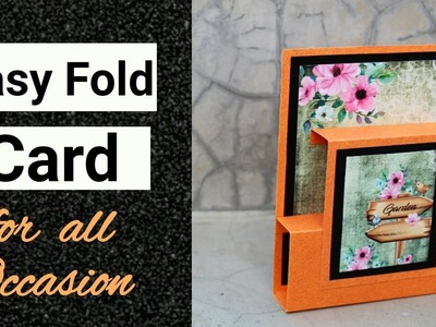 Easy Fold Card for all Occasions | Card for Scrapbook | Friendship Day Card |
