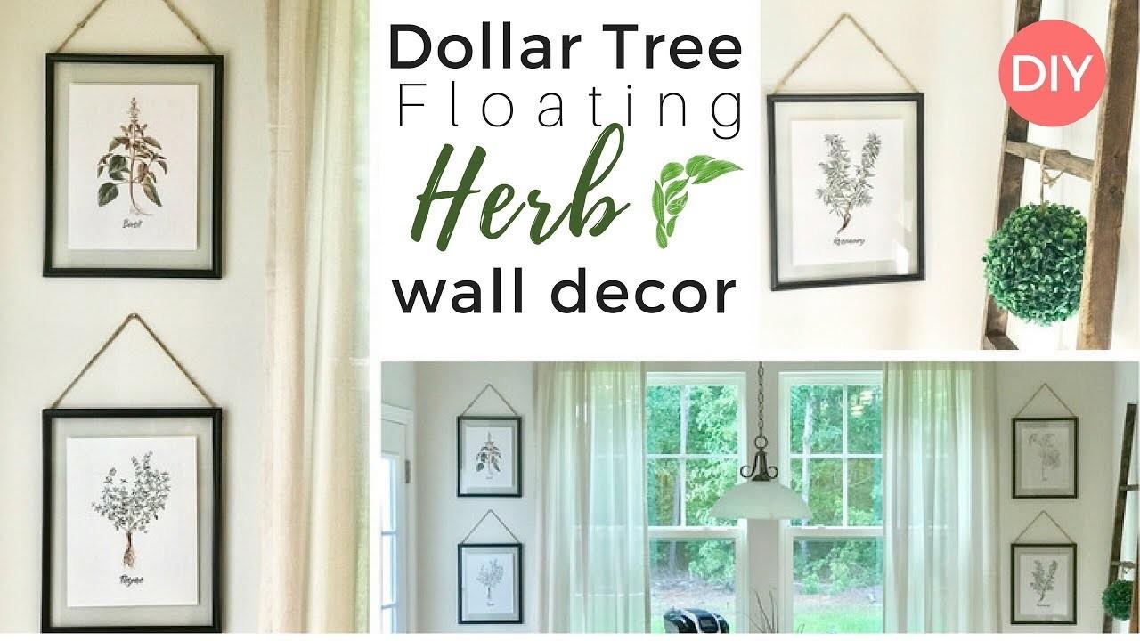 Herb Wall Decor Dollar Tree Diy Floating Frames Kitchen