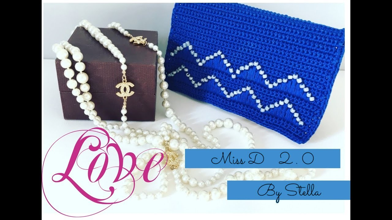 How To Create Easy Crochet Bag Clutch Tutorial Miss D 20 Diy