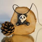 Panda Bear Necklace Animal Black White Jewellery Accessories Handmade Wildlife Nature