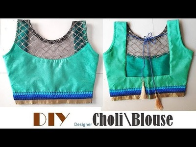 DIY Designer Blouse\Choli Cutting And Stitching Full Tutorial