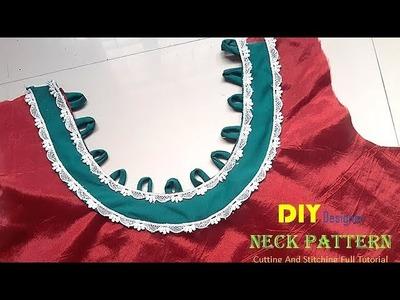 DIY Designer Neck Pattern In simple Way Full Tutorial