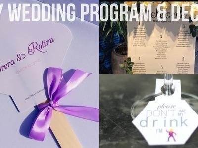 DIY WEDDING DECOR | PROGRAM & SIGNS