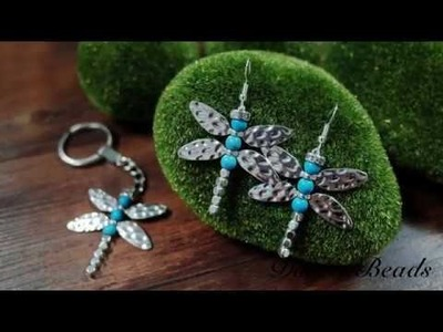 DoreenBeads Jewelry Making Tutorial - How to DIY Beaded Dragonfly Earrings