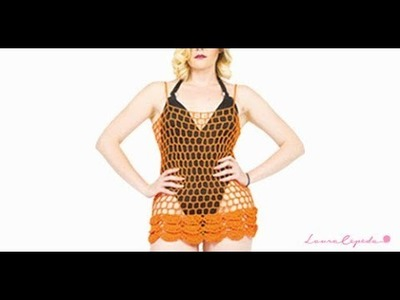 HOW TO CROCHET A SIMPLE BLOUSE  - EASY AND FAST - BY LAURA CEPEDA