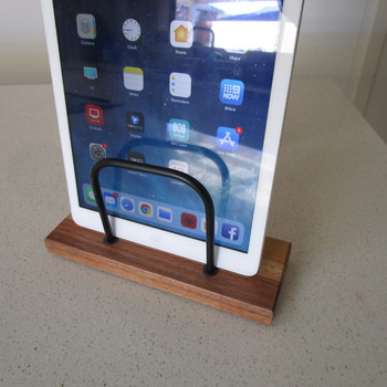iPad charging stand solid Tasmanian timber handmade