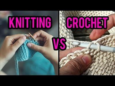 Knit VS Crochet - Which is Easier