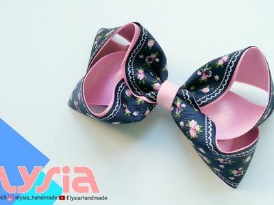 Laço Boutique Shabby Ribbon ???? Ribbon Bow ???? DIY by Elysia Handmade