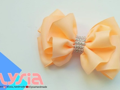 Laço Ruffle ???? Ribbon Bow ???? DIY by Elysia Handmade
