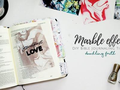 Marble effect DIY Bible Journaling Tutorial | Doodling Faith