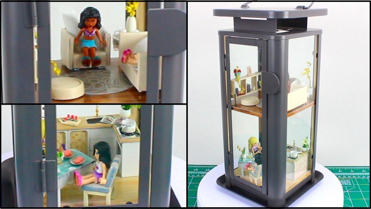Modern fairy lamp apartment a diy miniature dollhouse