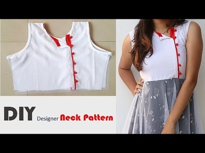 DIY Designer Neck Pattern In simple Way Full Tutorial