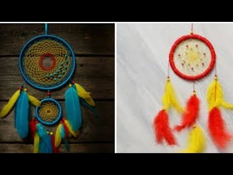 #dreamcatcher DIY||how to make a dream catcher without wooden ring| DIY wall decoration ideas ##5