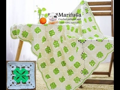 How to crochet shamrock blanket afghan free pattern tutorial