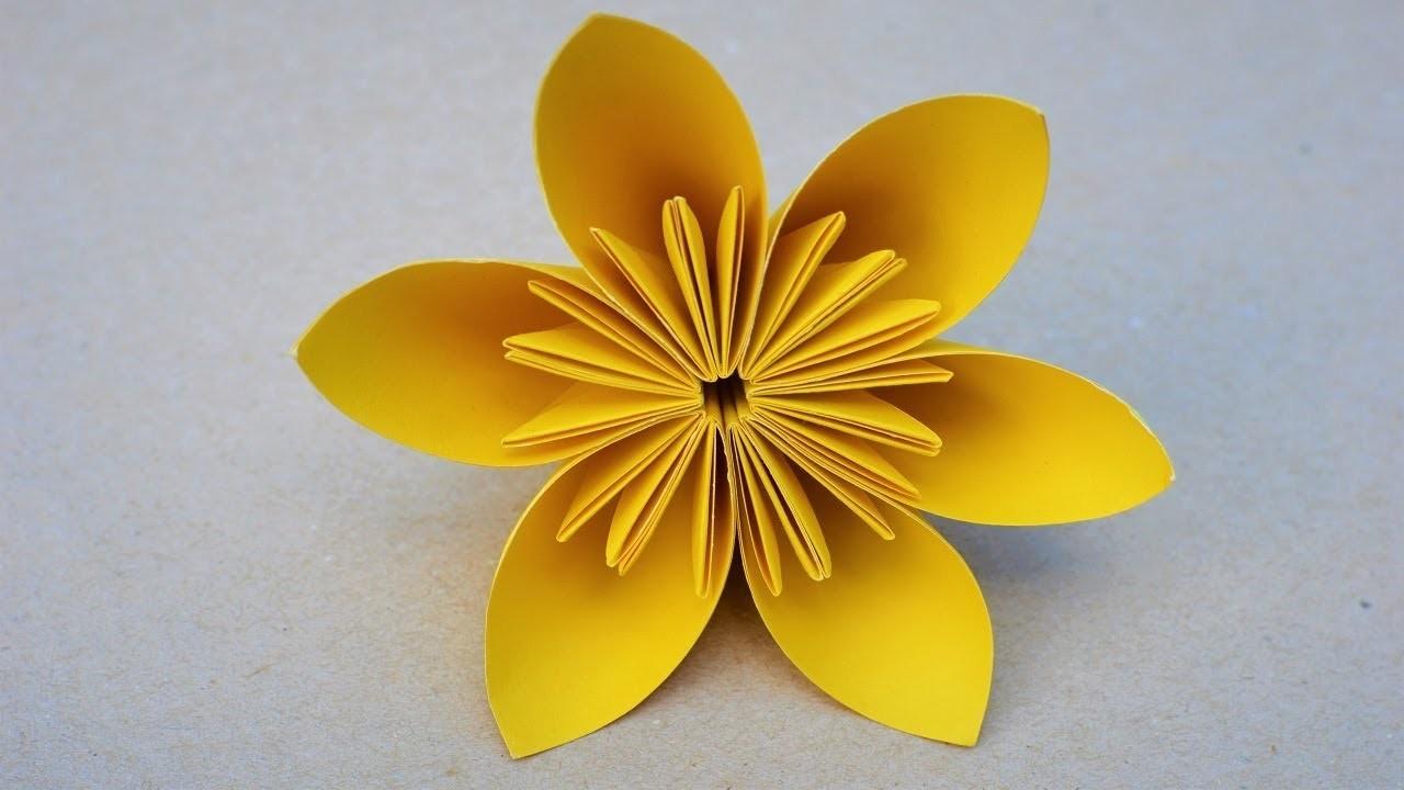 How To Make A Simple Kusudama Paper Flower Diy Origami Kusudama Flower