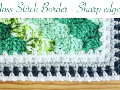 Simple and Neat Crochet Moss Stitch Border (amazingly sharp corners!)