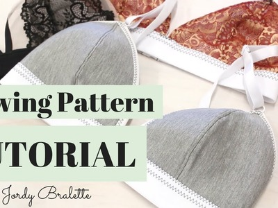Bralette Sewing Pattern Tutorial | Jordy Bralette Patten | Emerald Erin