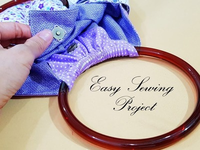 Creative ideas for sewing ring handle bag | Easy sewing project | 很可爱的圆环小包❤❤