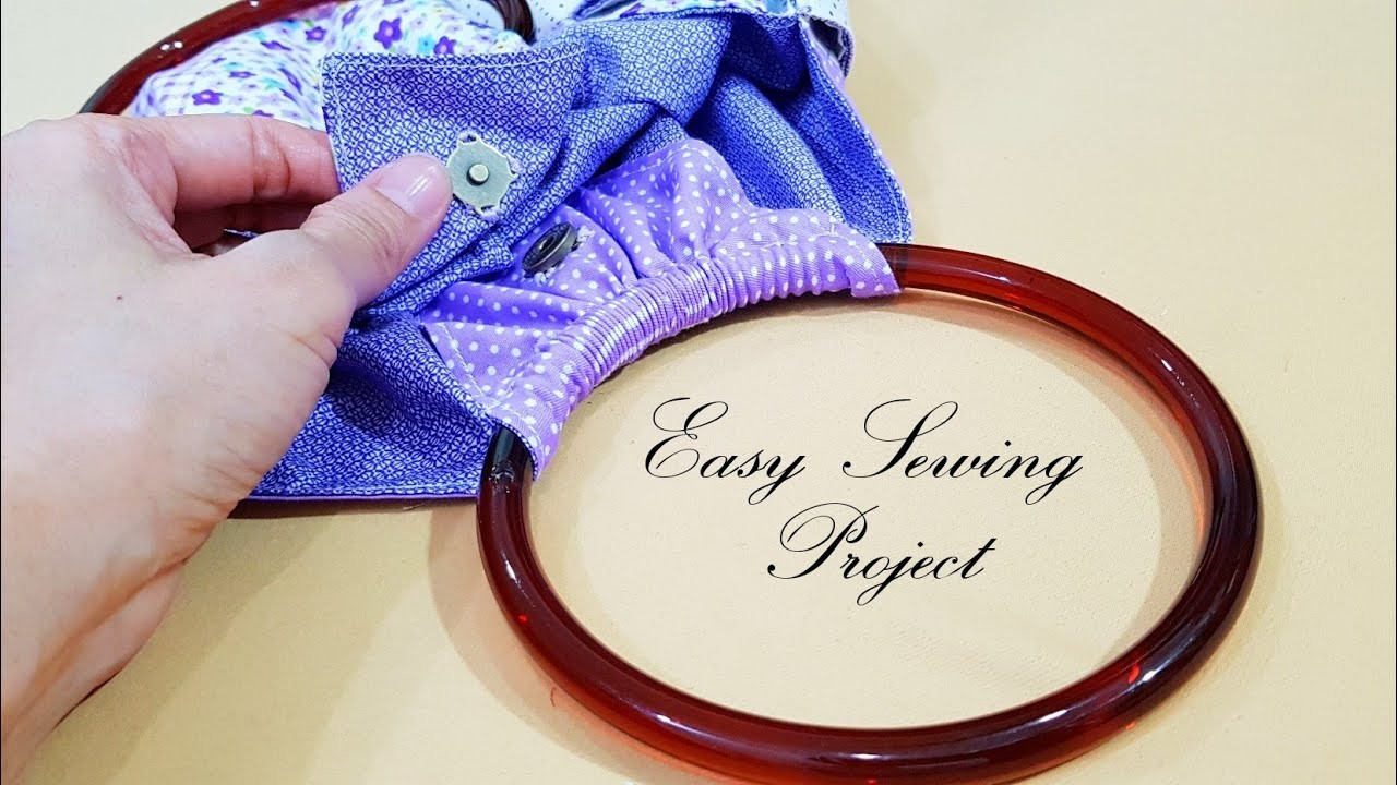 Creative ideas for sewing ring handle bag   Easy sewing project   很可爱的圆环小包❤❤