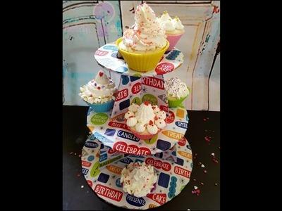 DIY Cupcake Organizer. DIY Cupcake Stand. DIY Cupcake Holder Using Cardboard