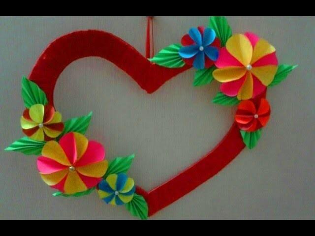 Diy Easy Heart Wall Hanging Heart Shape Wall Hanging Craft Ideas