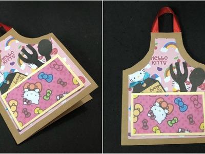 DIY Greeting cards. DIY Mother's Day Card. Handmade Card.Apron Card
