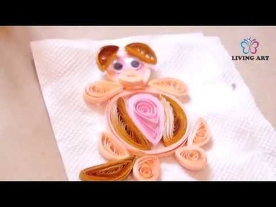 DIY-How To Make Quilling Dog | Quilling Art