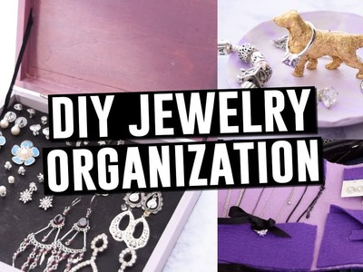 EASY DIY JEWELRY ORGANIZERS || Actually Alli