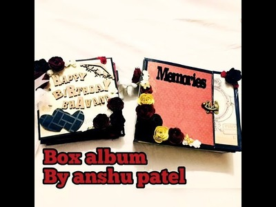 Handmade album in a box    gift for loved ones   by anshu patel