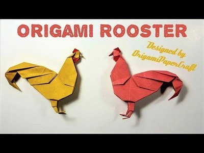 How to make an Origami ROOSTER ???? By OrigamiPaperCraft