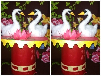 How to Make swans from Cotton.DIY swans. eazy Craft.be creative