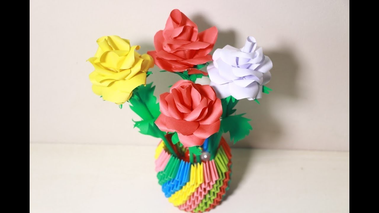 Make Origami Flower Rose Step By Step Tutorial Origami Rose Flower