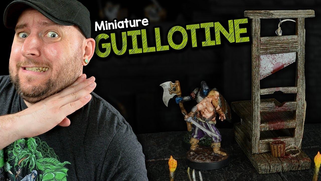 ????☠️Miniature Guillotine Build for D&D (Black Magic Craft Episode 102)