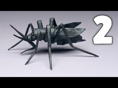Origami Aedes aegypti (Mosquito) Tutorial By Robert Lang - Part 2.2 [Shaping]