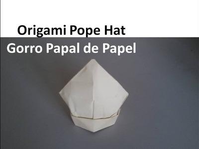 #Origami Priest Cap -  Gorro de Sacerdote de Papel