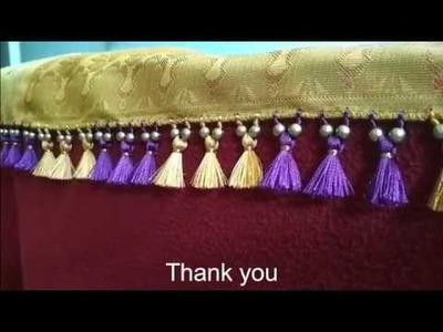 Saree kuchu.tassel with small plain beads-2