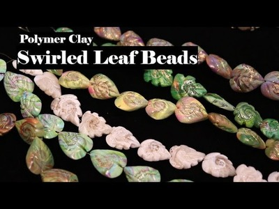 Simple Swirl Leaf Beads with polymer clay