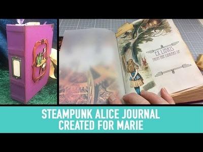 Steampunk Alice Handmade Journal for Marie
