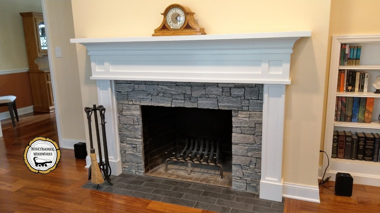 Woodworking : DIY Fireplace Mantel Surround. How-To Part 2