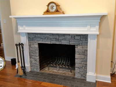 Woodworking : DIY Fireplace Mantel Surround. How-To Part 3