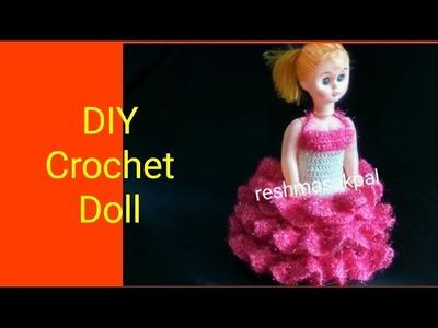 DIY Crochet Doll Dress. Rukhwat Doll