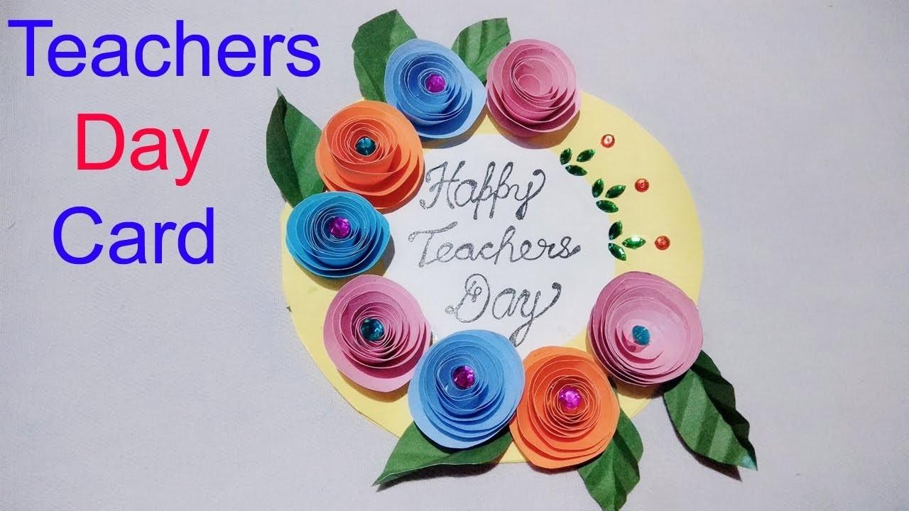 Diy Teachers Day Card Diy Art And Craft Paper Craft Handmade Crad