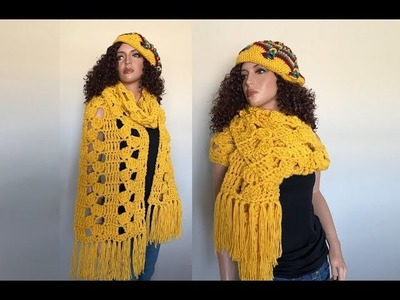 How to Crochet a Jumbo Scarf Pattern #735│by ThePatternFamily