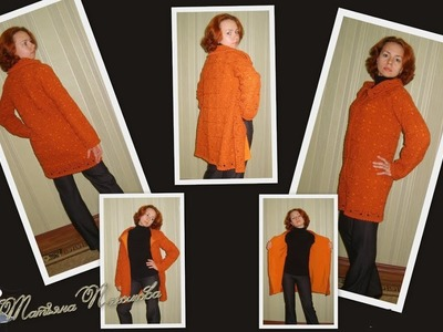 How to crochet jacket coat cardigan bolero shrug  for woman free pattern